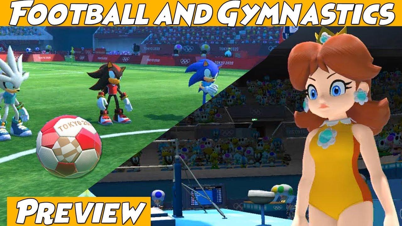 Mario Sonic Olympic Games Tokyo 2020 Soccer Football Gymnastics Youtube