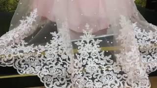 Net embroidered saree - Excellent design