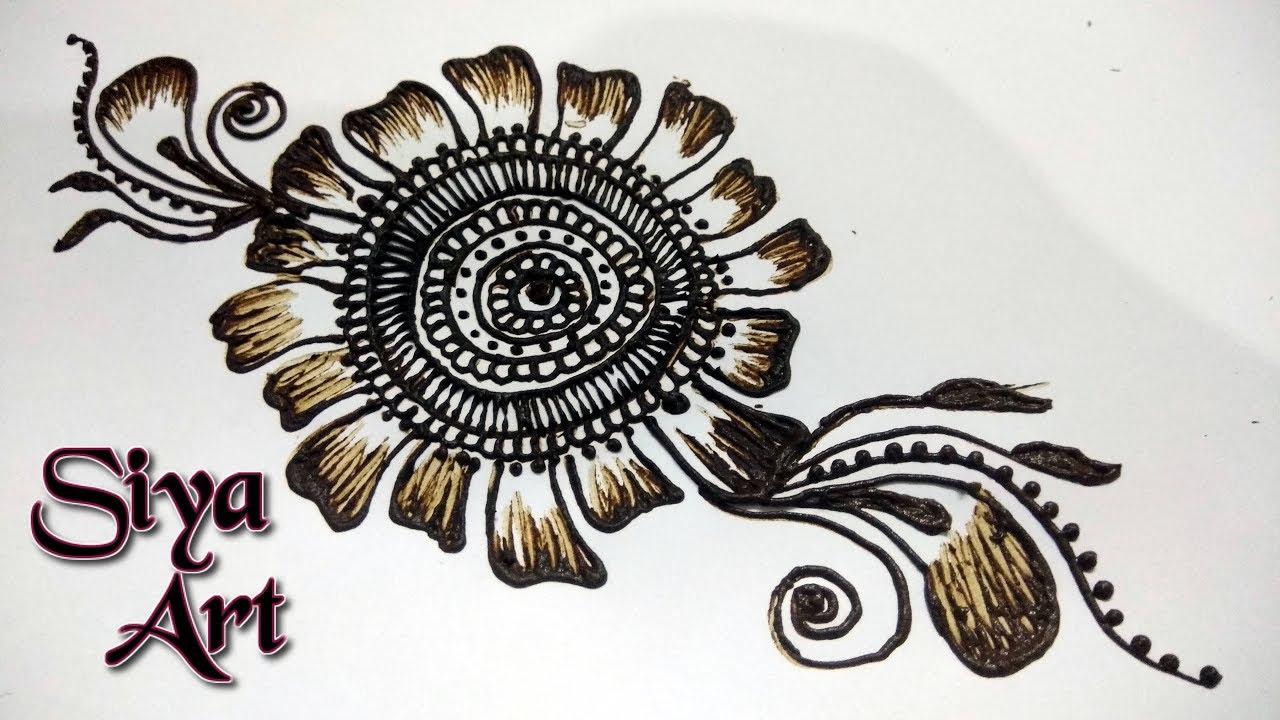 Easy simple beautiful mehndi flower designs for hands tutorials easy simple beautiful mehndi flower designs for hands tutorials siyaart izmirmasajfo