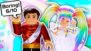 MY BOYFRIEND RATES MY FREE VS EXPENSIVE OUTFITS // Roblox Royale High School