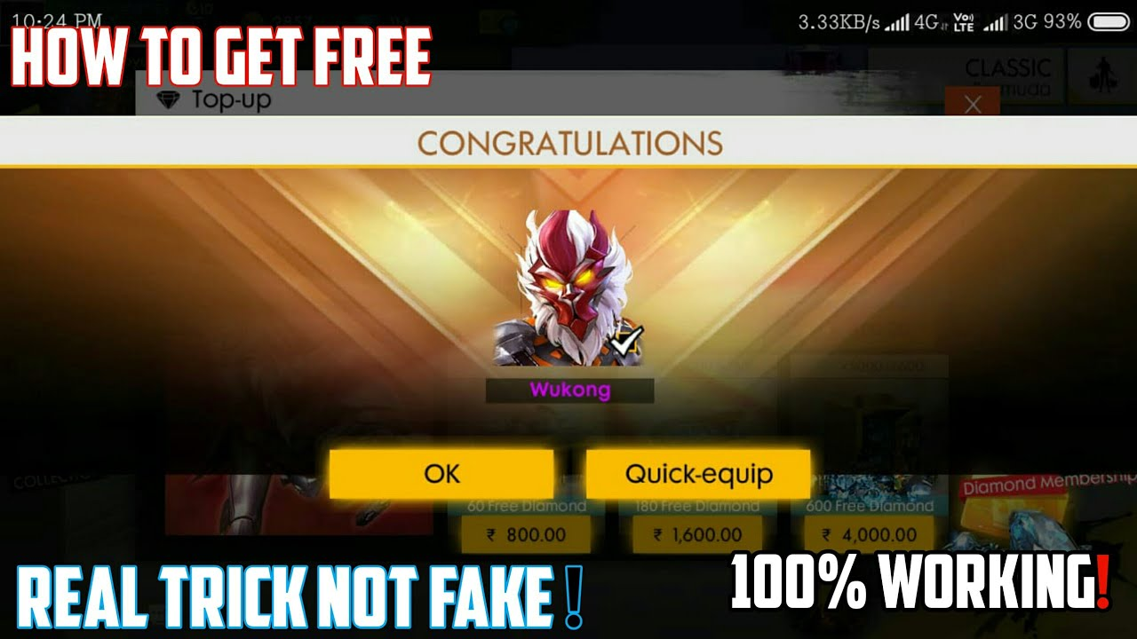 Free Fire Diamond Hack In India With Proof | Freefire