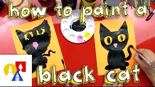 How To Paint A Black Cat