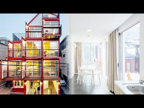 한남동, 국내 최초 '4층 컨테이너' 집 (하우
