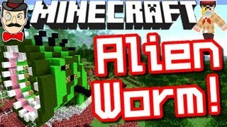 Minecraft INSANE Alien Worm BATTLE ! Clay Soldiers #115 !