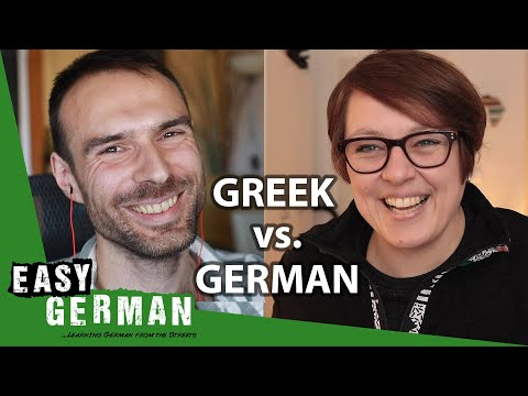 How Greek is the German language?