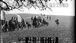 1800s Covered Wagon Train 221603-07 | Footage Farm