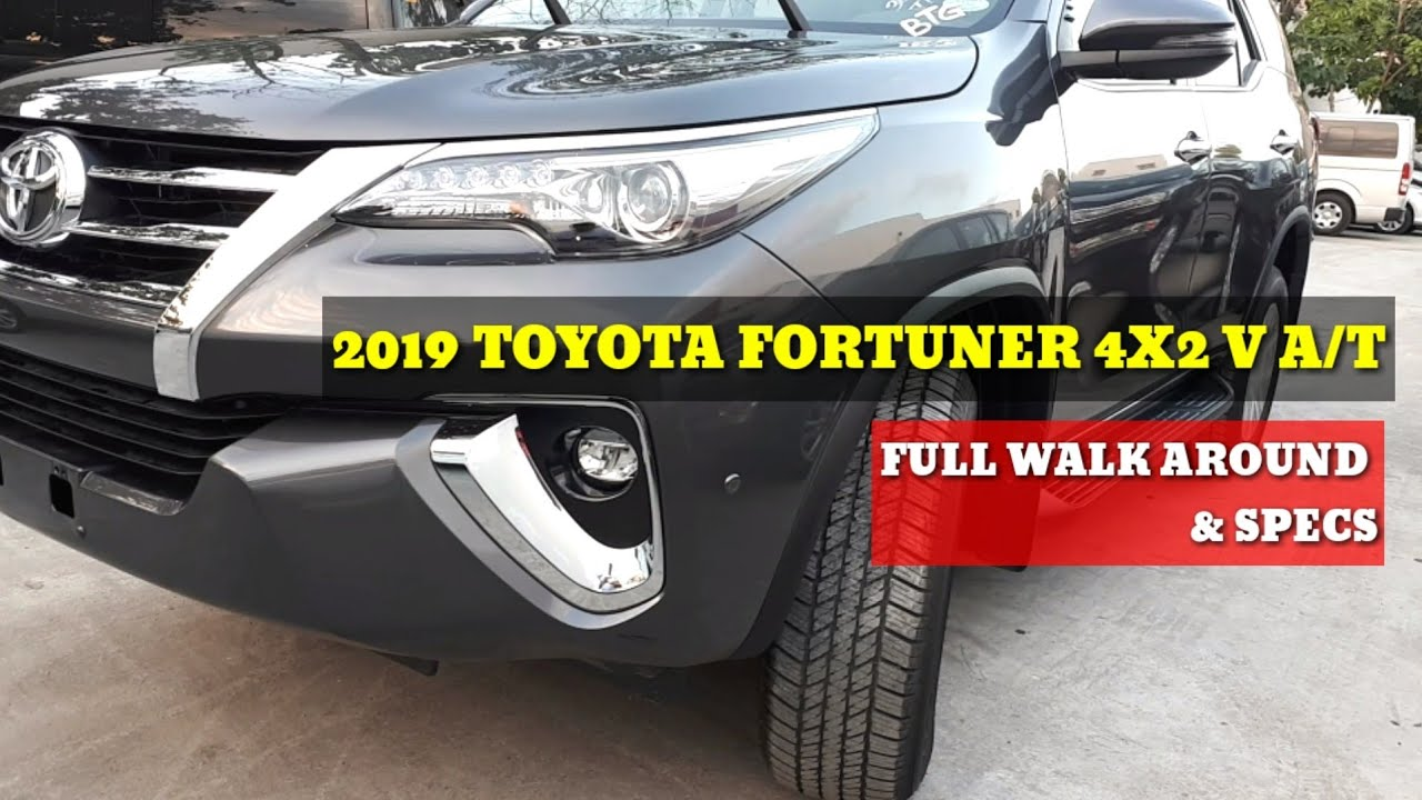 TOYOTA FORTUNER V 4X2 AUTOMATIC | GRAY METALLIC | FULL WALK AROUND & SPECS
