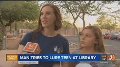 VIDEO: Man tries to pay teen girl for sex at Peoria library police say
