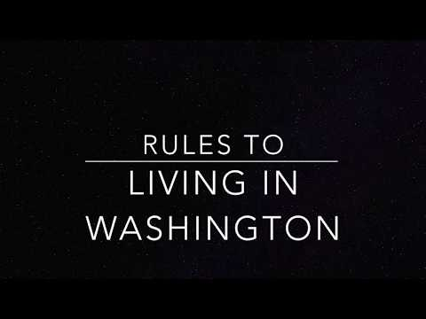 Rules to living in Washington State