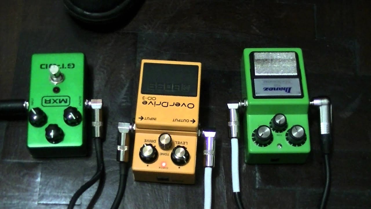 ibanez tube screamer boss od3 mxr gt od overdrive test youtube