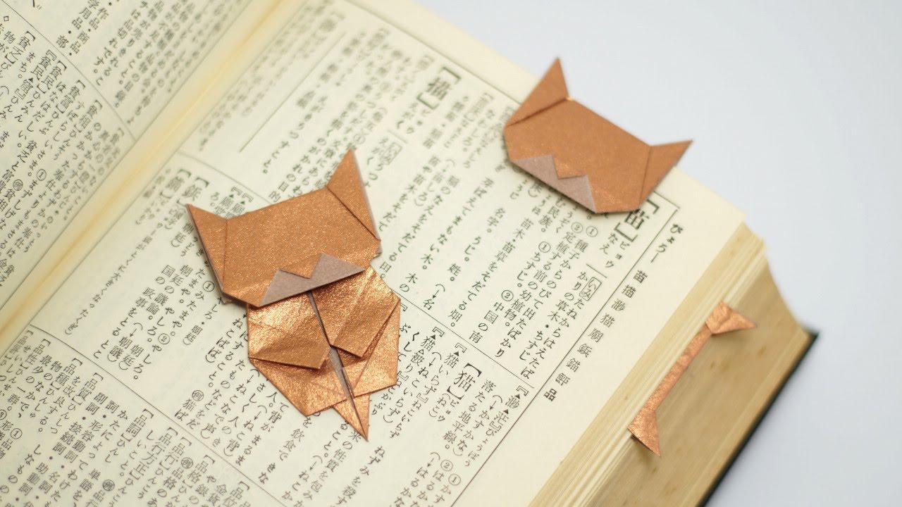 origami neko bookmark jo nakashima youtube