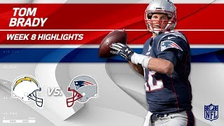 Tom Brady's 333-Yd Day vs. LA! | Chargers vs. Patriots | Wk 8 Player Highlights