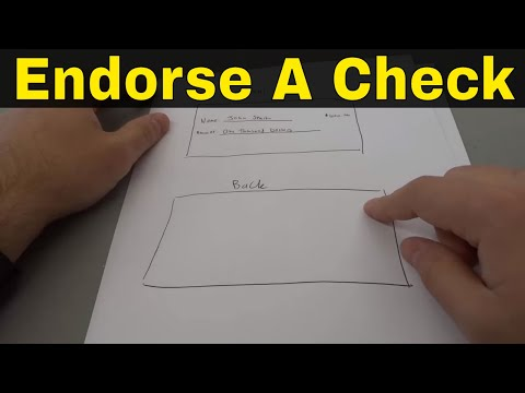 How To Endorse A Check To Someone Else