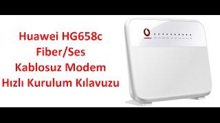 Vodafone yalın internet - Huawei HG658c modem kurulumu