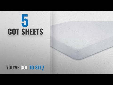 Top 10 Cot Sheets [2018]: 2x Cot Bed 100% Cotton Jersey Fitted Sheets 140 x 70 cm White
