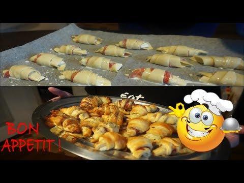 recette-facile-et-rapide---croissants-jambon-mozzarella