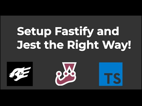 How To Setup a Typescript Fastify API with Jest Tests The Right Way!