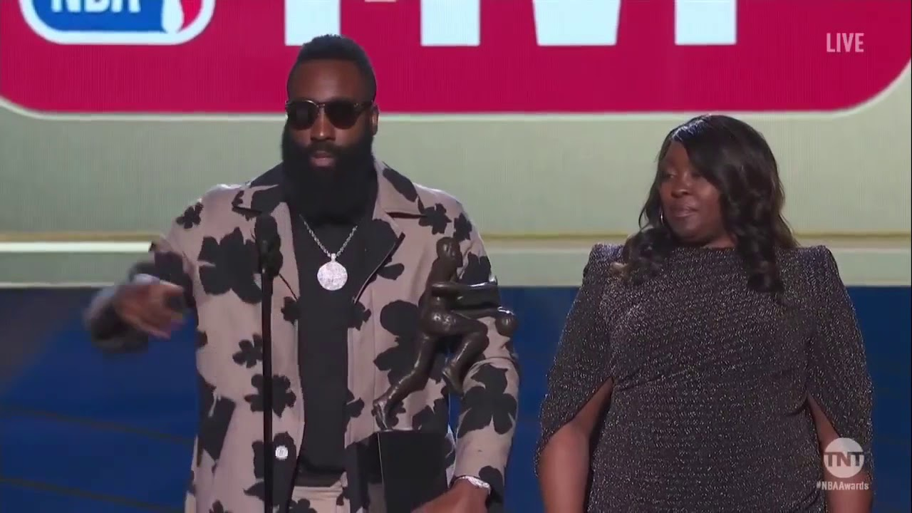 Harden with a funny chuckle