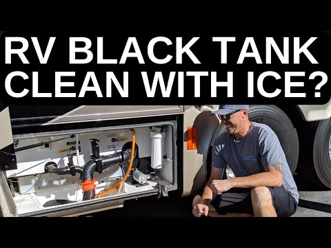 RV  BLACK TANK CLEAN WITH JUST ICE CUBES?