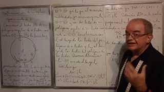 Geometría - Lección 100 - A (la medida de los lados de un polígono regular inscrito en un círculo)