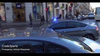 Citroën C5 banalisée SPHP/GSPR [sirène américaine] // Unmarked Police Car Paris
