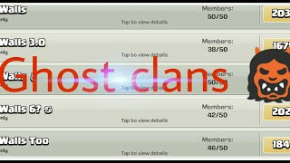 Top ghost clans in clash of clans!