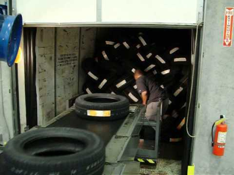 Fmh Americas Maxxreach Tire Unloading Youtube