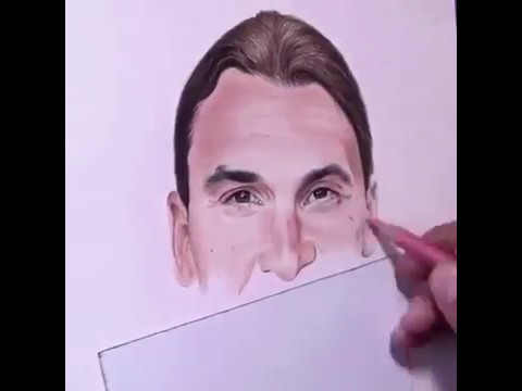 Amazing Drawing of Zlatan Ibrahimovic
