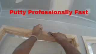 Putty nail holes fast professionally with a knife