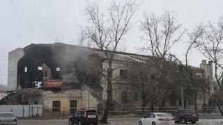 Снос котельной. Демонтаж. \ The demolition of the boiler house.