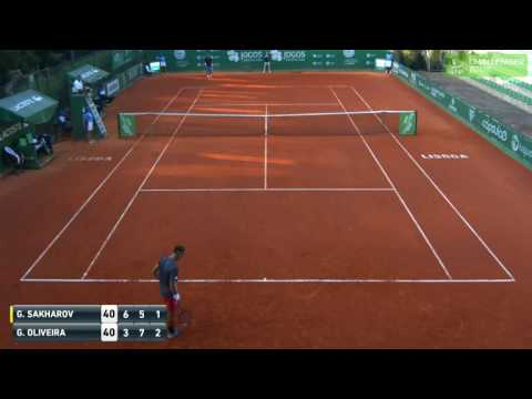 ATP Challenger Lisbon - Longest Game in History ? - Sakharov & Oliveira play a 33 min game