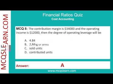 Financial Ratios Analysis Quiz - Accounting Quiz Questions and Answers