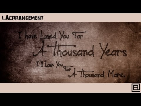 A THOUSAND YEARS (Christina Perri) - LACrrangement Piano Cover