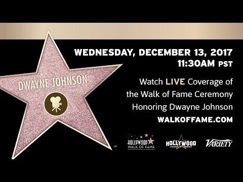 Dwayne Johnson  Hollywood Walk of Fame Ceremony  Live Stream