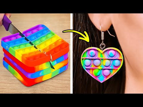 COLORFUL DIY JEWELRY    Wonderful Mini Crafts Out Of Polymer Clay, Glue Gun, Resin And 3D-Pen