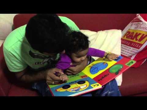 6th month papa teaching ABC Feb 2,2016