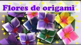 FLOR 4 PÉTALAS DE ORIGAMI.