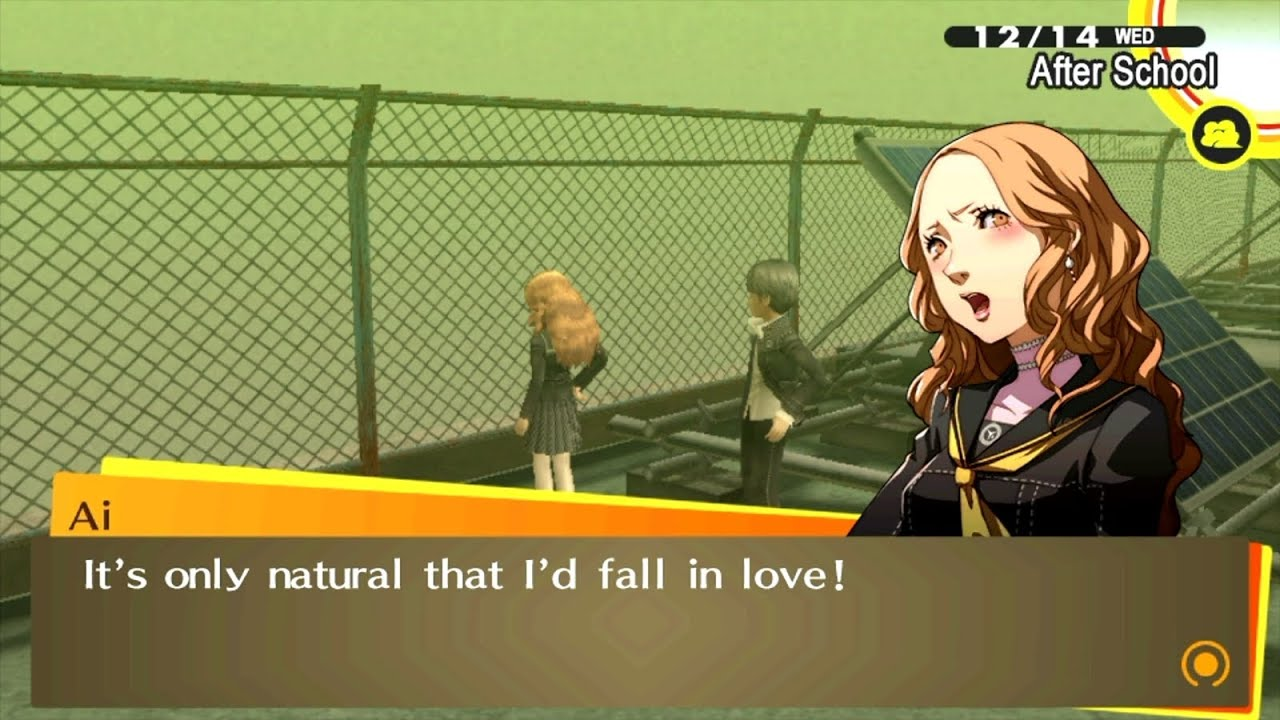 Persona 4 golden dating ai