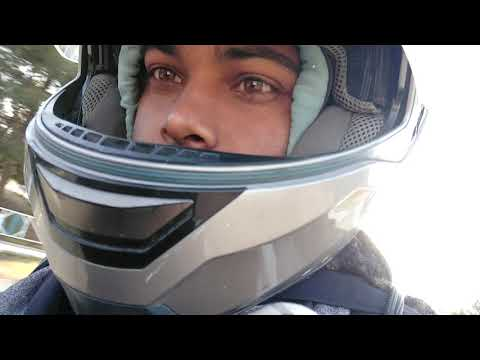 driving with motorbike's  in Cyprus village.