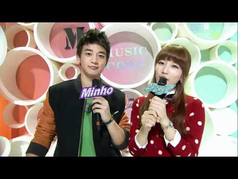 [101113] MBC Music Core Minho Suzy Love MC