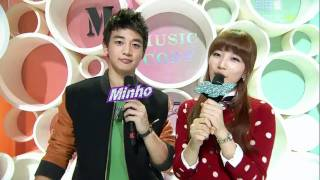 [101113] MBC Music Core Minho Suzy Love MC