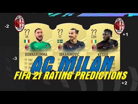 Ac Milan Fifa 21 Rating Predictions Ft Donnarumma Zlatan Rebic More Socceropedia06 Youtube
