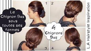 ➳ 4 Chignons bas faciles, élégants et rapide | L.A Hairstyle Inspiration