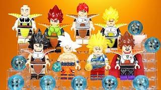 Dragon Ball Z Dokkan Battle Goku Vegeta Raditz Krillin Recoom Raditz Unofficial LEGO Minifigures