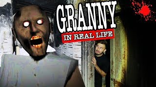 GRANNY HORROR GAME IN REAL LIFE IN A HAUNTED HOUSE AT 3AM | WE FOUND GRANNY