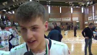 07-04-2019: Alessandro Bristot e i ragazzi della Trentino Volley dopo la Boy League 2019