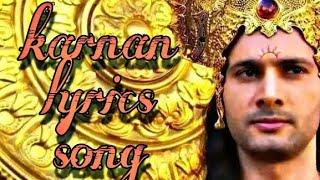mahabharatham karnan sad lyrics song | Mahabharatham serial karnan Tamil lyrics song