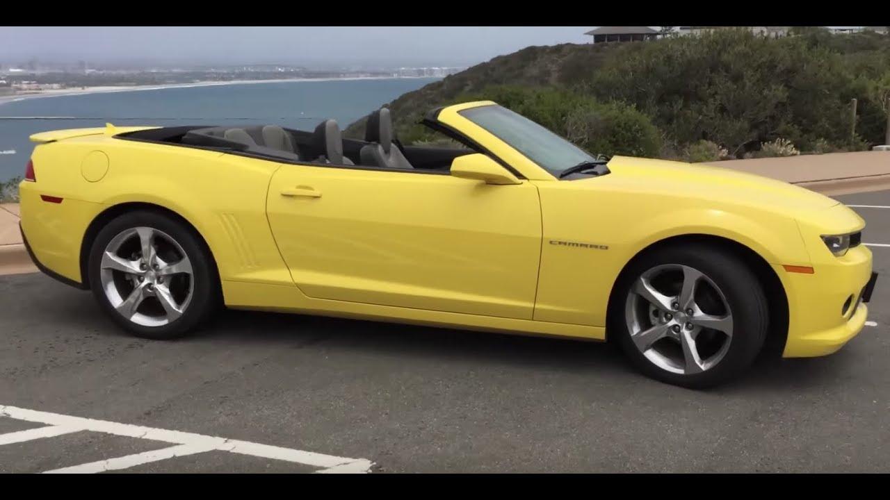 Chevy Camaro Bright Yellow Convertible RS V6 Walkaround in ...