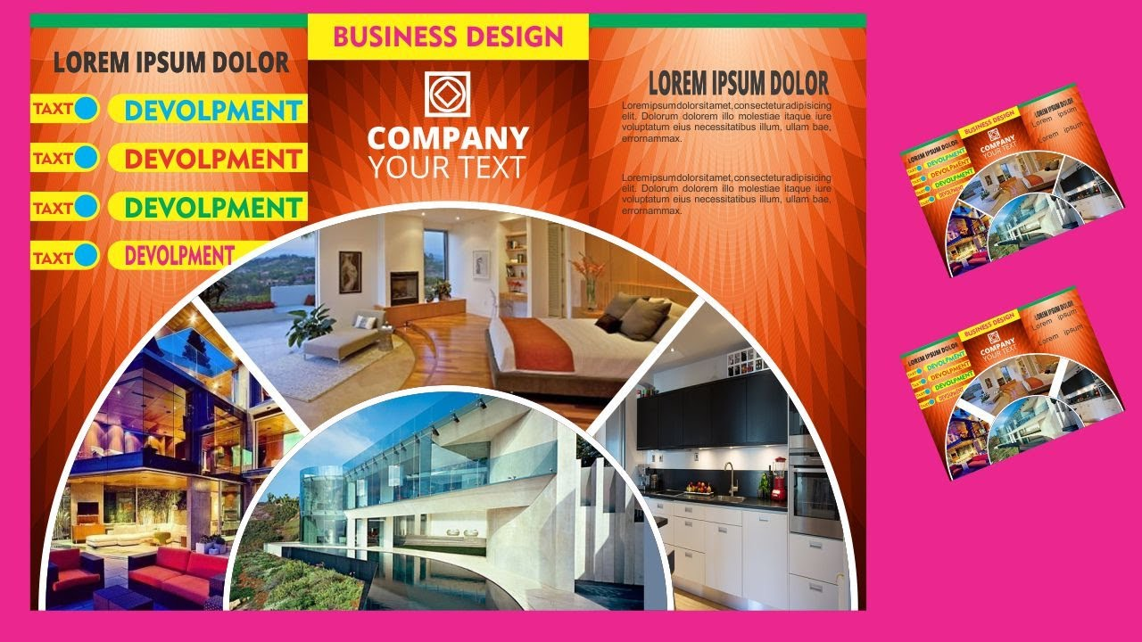 three fold brochure design in corel draw x7 with design center youtube