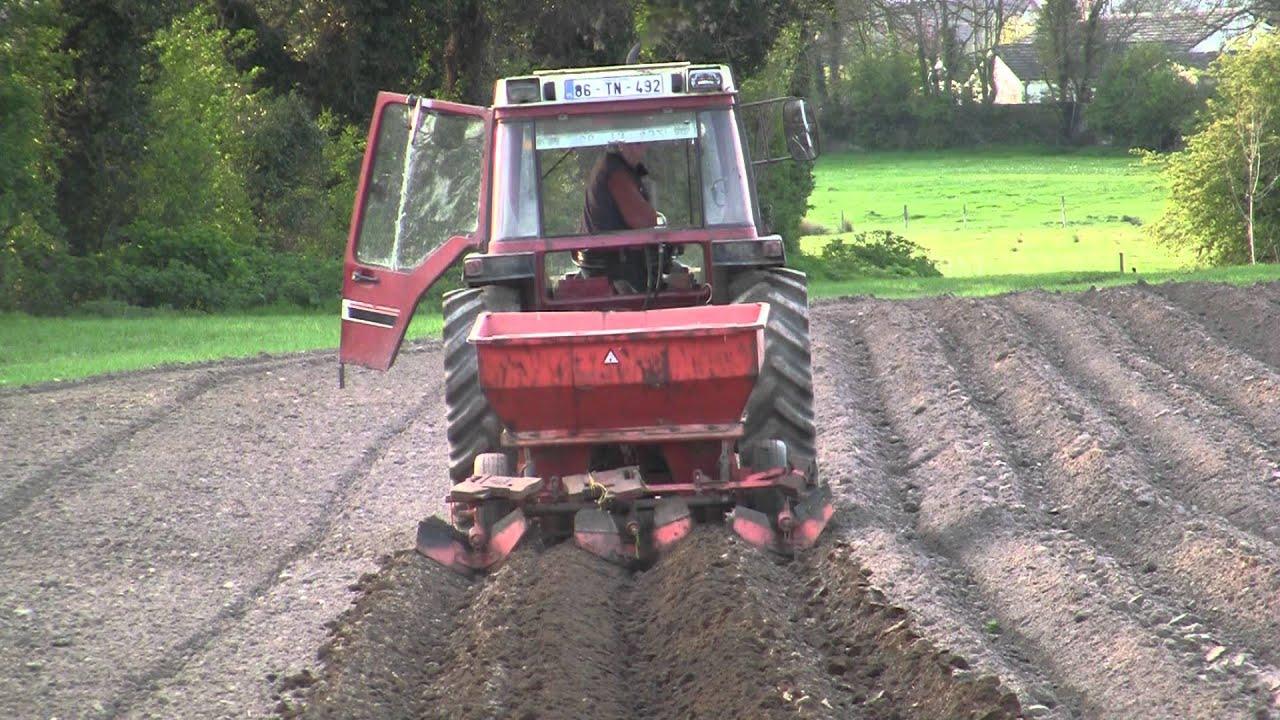 Potato Planting With International 885xl And Underhaug Planter Youtube Case Wiring Diagram
